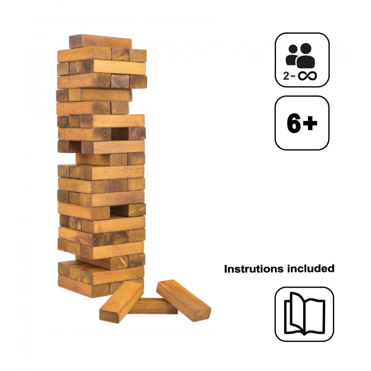 מגדל קוביות מעץ