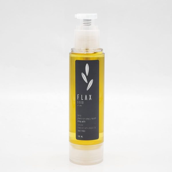 Serum enriched with flaxseed oil