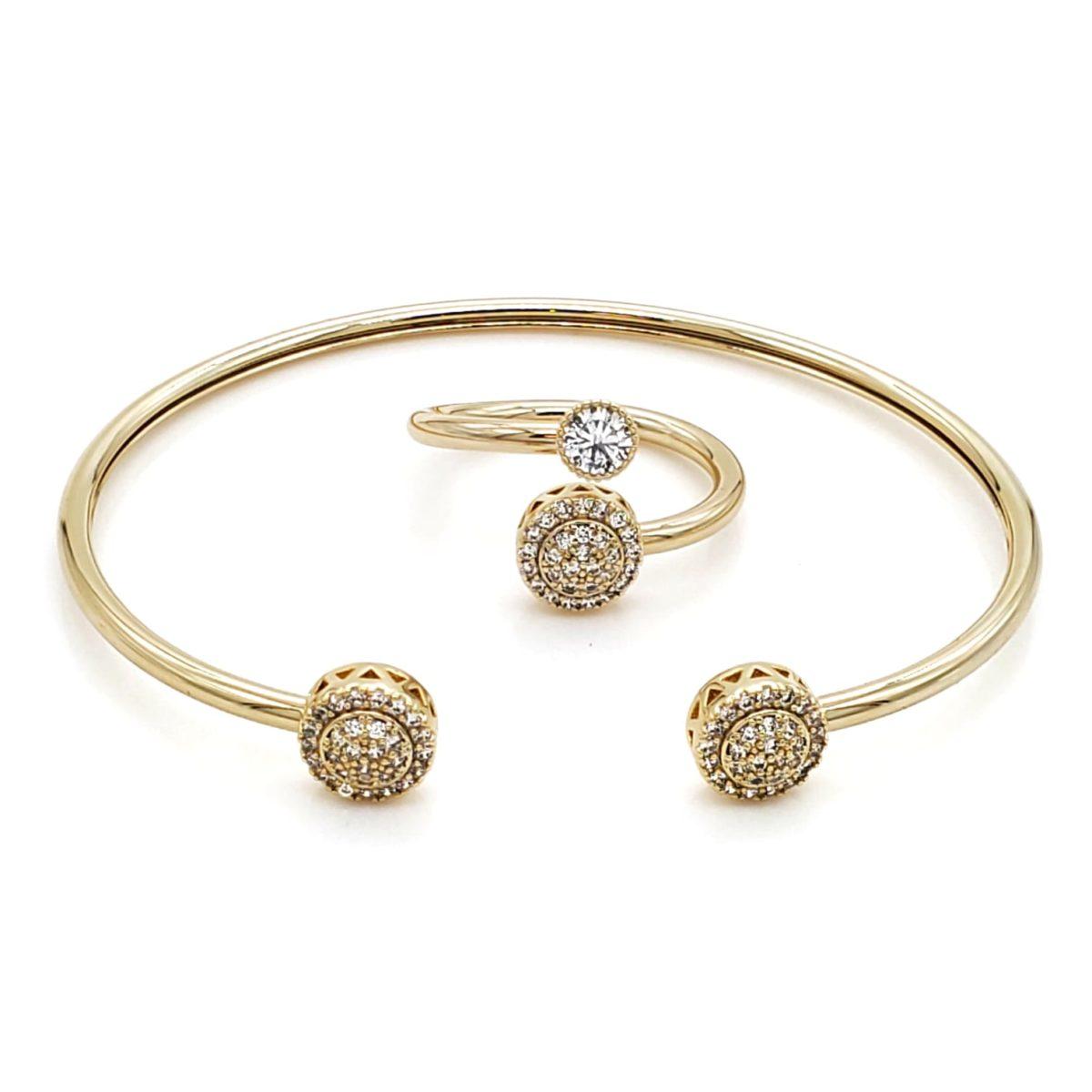 סט צמיד וטבעת מילודי גולדפילד זהב